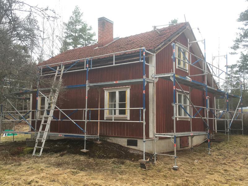 Takrenovering och Fasadmålning i Järna, Södertälje